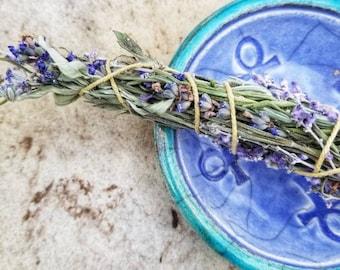 Two Sage and Lavender Herbal Saining Smudge Bundles