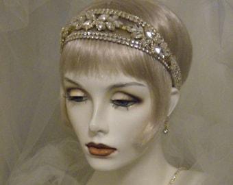 Art Deco 1920s Gatsby Wedding Headpiece