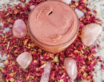 Rose Red Breast Balm and Body Butter - Completely Natural Soothing Lotion