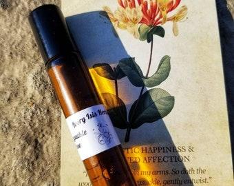 Honeysuckle Rose Infused Essential Oil Perfume Oil Organic Jojoba
