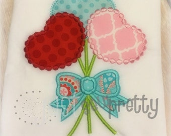 Flower Hearts Embroidery Applique Design