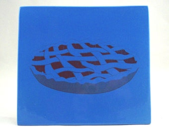 Blue Pie Trivet