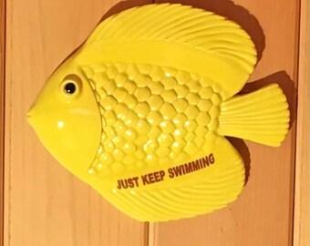 Yellow Fish Wall Hanging