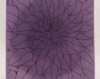 Purple Flower Ceramic Trivet