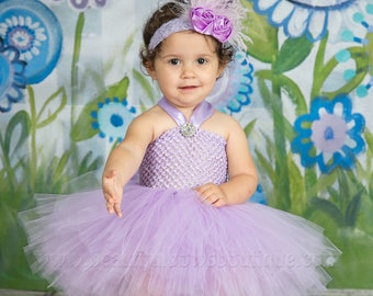 8344dd946 Lavender Baby Tutu Dress,Light Purple Baby Girl Tutus,Orchid Tulle Tutu, Infant Girl Tutu Dresses,Baby Shower Gift, Newborn Baby Tutu and Bow