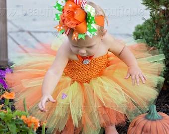 72d98e009b3 Pumpkin Tutu Outfit