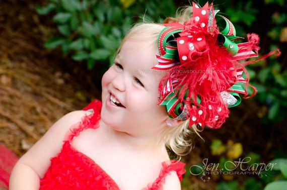 Christmas Headbands For Babies.Over The Top Christmas Bow Christmas Baby Headband Baby Headbands Baby Headband Christmas Headbands Big Baby Bow Girls Hair Bows Christmas