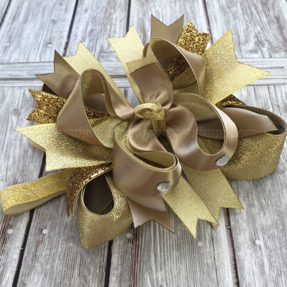 New Years Bownew Years Baby Headbandover The Top Bownew Etsy