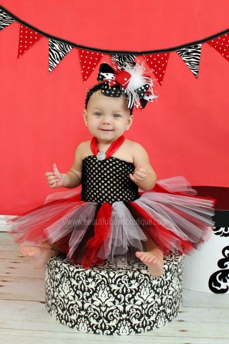 05334dd247f6e Les filles rouge et noir bébé robe Tutu vacances bébé fille