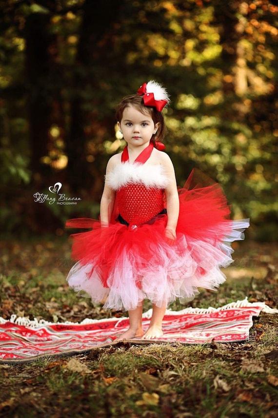 Mrs Claus Tutu Dresssanta Baby Girl Costumesanta Baby Etsy