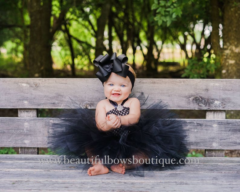 Large Black Hair Bow,Black Baby Headband,Huge Black Baby Bow,Big Black Wedding Hair Bows,Toddler Black Hairbows,Large Baby Girls Bows Black