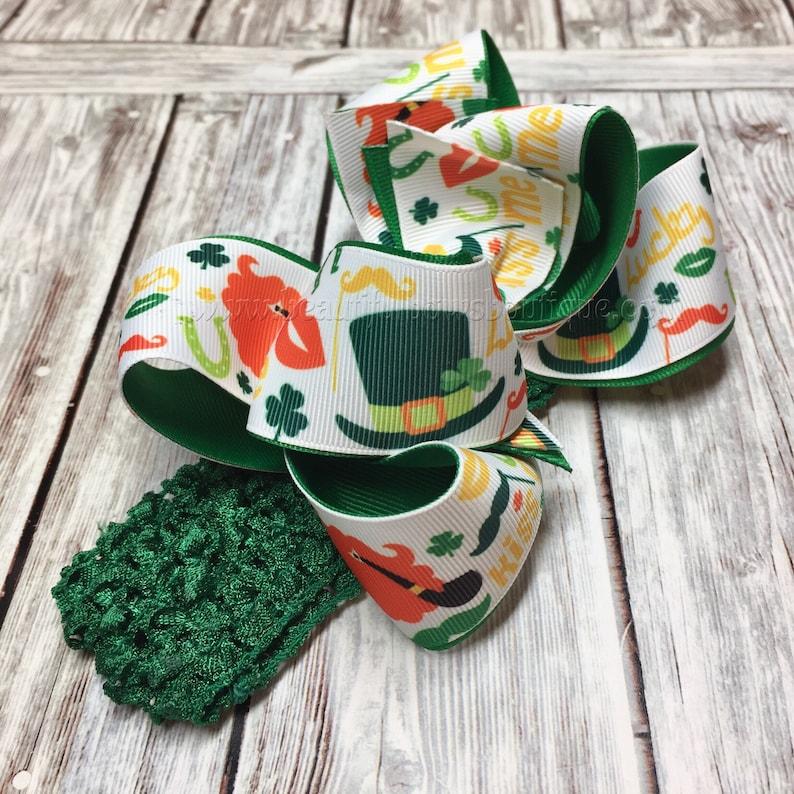 Saint Patricks Day Headband,Baby Headband,Infant Headband,Saint Patricks Day Baby,St Patty/'s Day bows green orange,Saint Patty/'s Baby Bows