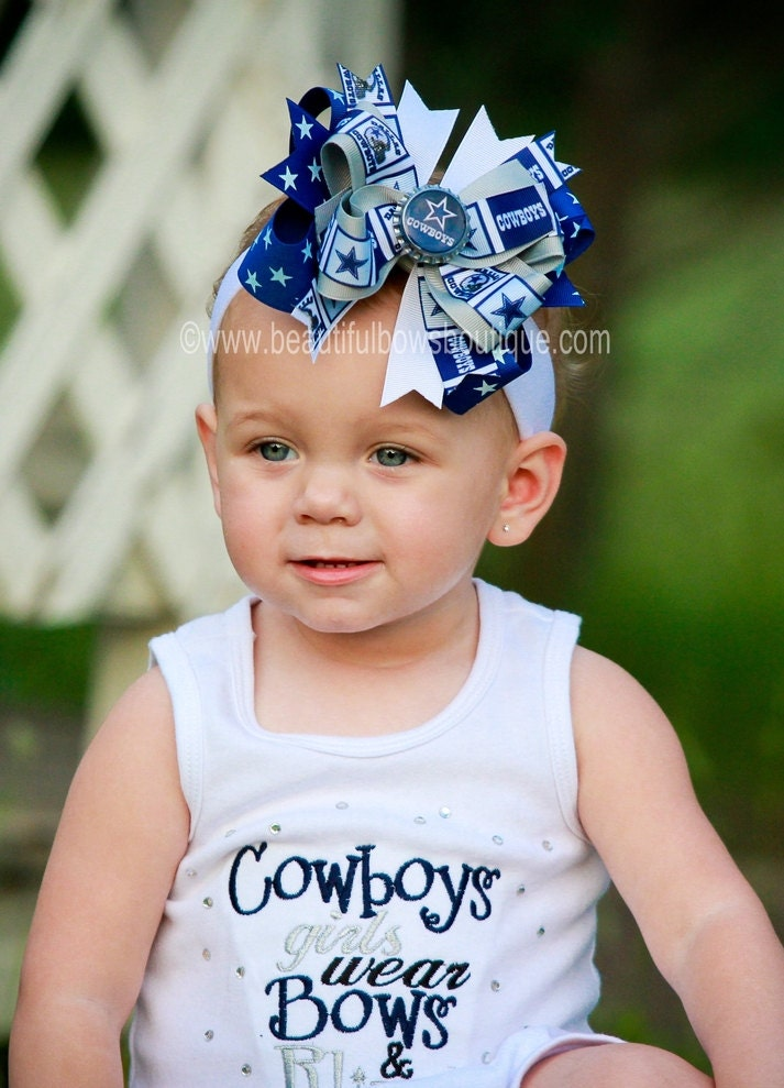 55d061fda Dallas Cowboys Baby Headband,Cowboys Hairbow,NFL Baby Headband,Newborn  Headbands,Infant Headbands,Blue and Gray Bows,Dallas Cowboys Hair Bow