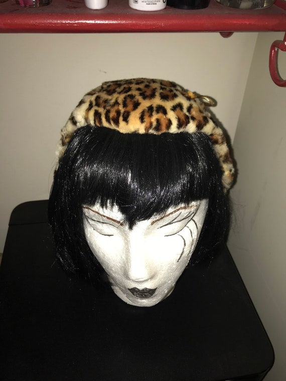 Pin up Leopard hat MEOW