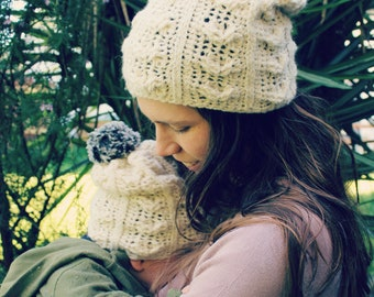 Download Now - CROCHET PATTERN Alpaca Cables Beanie - Sizes Baby to Adult - Pattern PDF