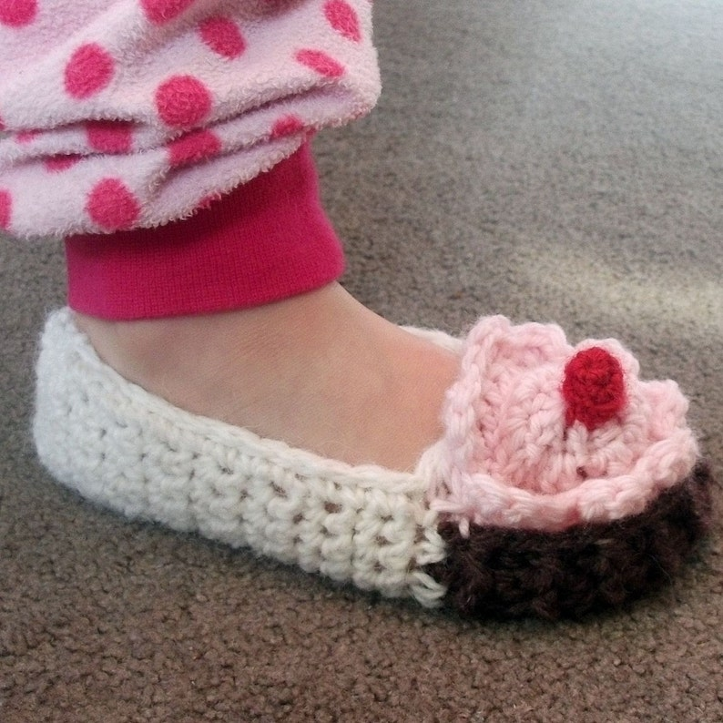 Download Now Crochet Pattern Toddler Cupcake Slippers Etsy