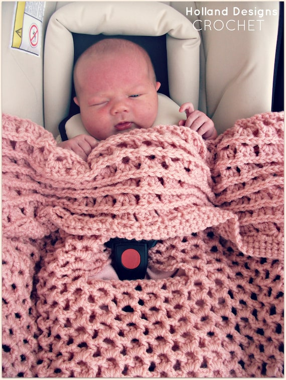 Download Now Crochet Pattern Reversible Car Seat Cover Etsy