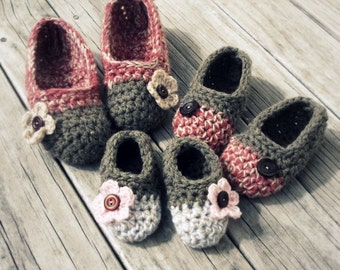 Download Now - CROCHET PATTERN Kids Cakewalk Slippers - All Sizes - Baby Toddler and Youth - Pattern PDF