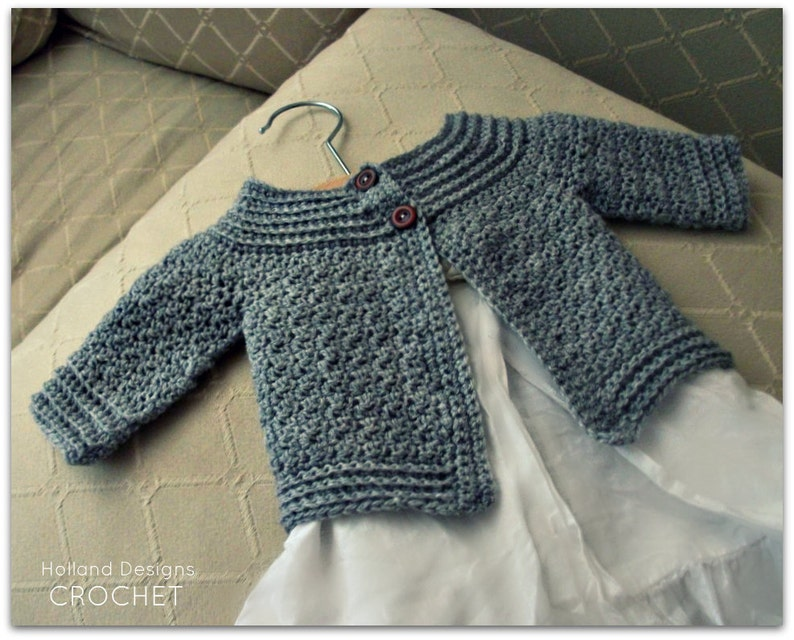 375ab7299843 Download Now CROCHET PATTERN Classic Baby Cardigan Sizes
