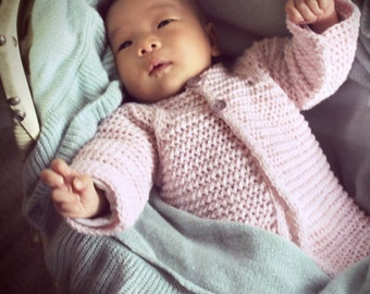 Download Now - CROCHET PATTERN Mock Knit Baby Cardigan - Sizes 0-6, 6-12, 12-18 mos - Pattern PDF