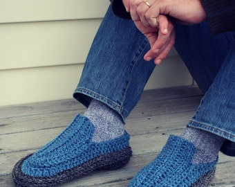 Download Now - CROCHET PATTERN Papa's Loafers - Mens Sizes 6-15 - Pattern PDF