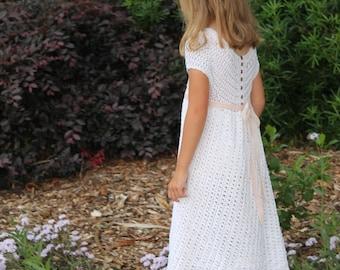 Download Now - CROCHET PATTERN Edelweiss Dress - Sizes 1-8 Years - Pattern PDF