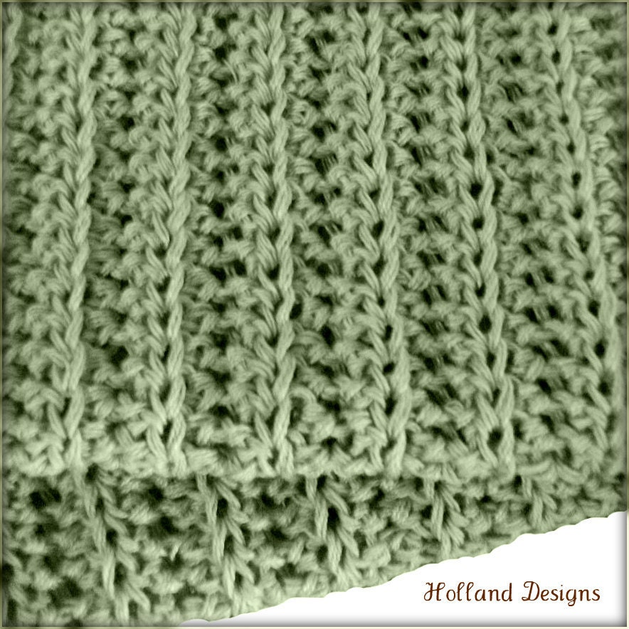 Download Now CROCHET PATTERN Simple Knit-Look Blanket Any ...