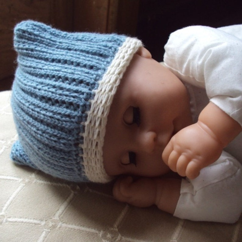 fae4c9030 Download Now CROCHET PATTERN Square Knit-Look Hat Baby and