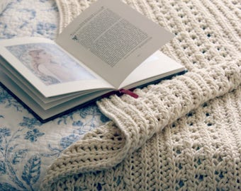 Download Now - CROCHET PATTERN Poetic Lines Throw - Any Size - Pattern PDF