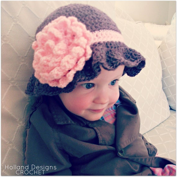 Download Now Crochet Pattern Carnation Baby Cloche Hat Etsy
