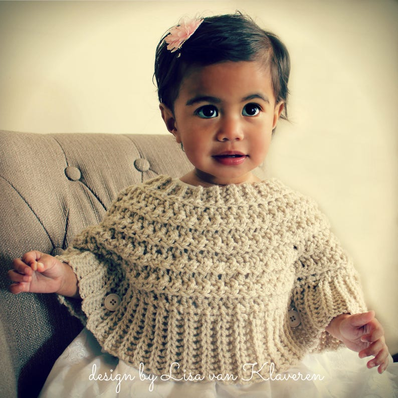 2eac1a368 Download Now CROCHET PATTERN Popover Poncho Sizes 0-6 mos