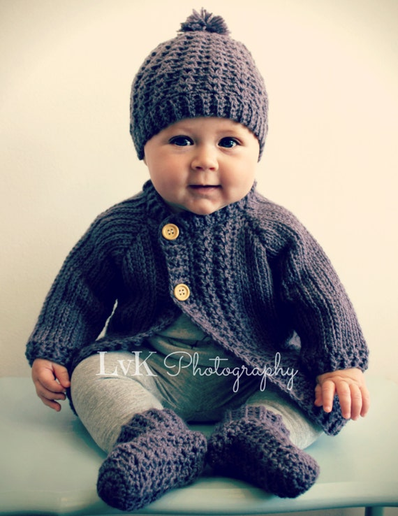 1997e4510 Download Now CROCHET PATTERN Simple Cable Baby Cardigan