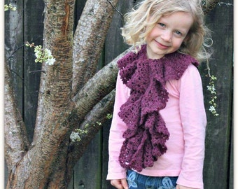 Download Now - CROCHET PATTERN Spiraling Scarflet - Child and Adult - Pattern PDF