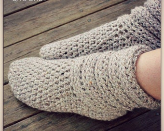 Download Now - CROCHET PATTERN Ladies Slouch Boots - All Sizes - Pattern PDF