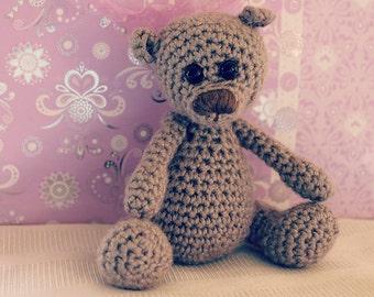 Download Now - CROCHET PATTERN Little Teddy - Amigurumi Bear - Pattern PDF
