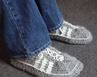 Download Now - CROCHET PATTERN Mens 3-Stripe Tennis Shoes - Pattern PDF