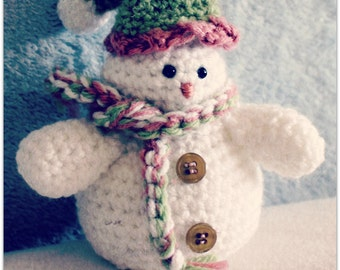Download Now - CROCHET PATTERN Cutest Snowman - Amigurumi - Pattern PDF
