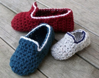 Download Now - CROCHET PATTERN - Kids Loafers - All Sizes - Baby Toddler and Youth - Pattern PDF