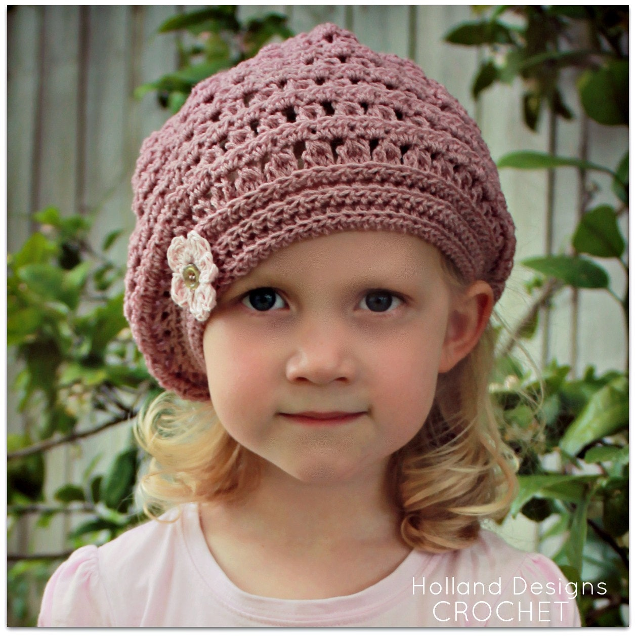 Download Now Crochet Pattern Mia Beret Sizes Baby To Adult Etsy