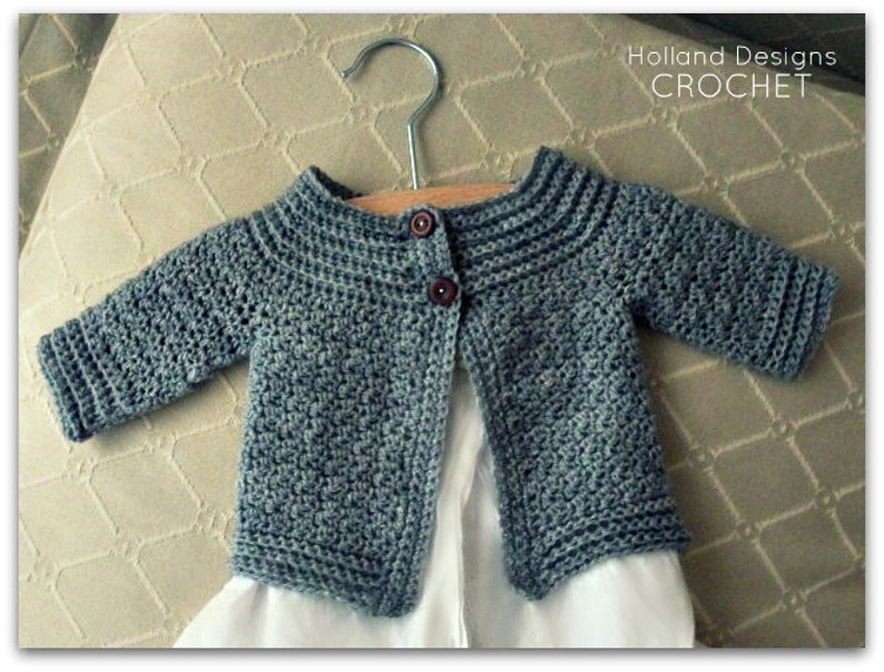 bb7e2b5d6 Download Now CROCHET PATTERN Classic Baby Cardigan Sizes