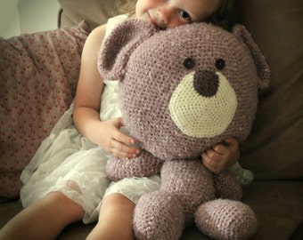"Download Now - CROCHET PATTERN Jumbo Bear - 24"" tall standing - Pattern PDF"