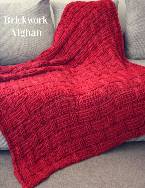 Download Now  CROCHET PATTERN Brickwork Afghan  Make to Any