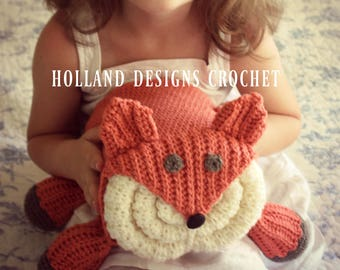 Download Now - CROCHET PATTERN Fox Blanket Bundler - Pattern PDF