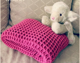 Download Now - CROCHET PATTERN - Reversible Waffle Blanket - Pattern PDF