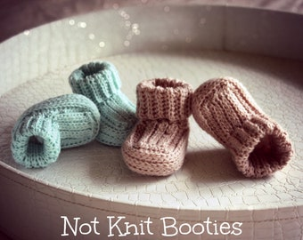 Download Now - CROCHET PATTERN Not Knit Booties - Sizes Newborn to 12-18 mos - Pattern PDF