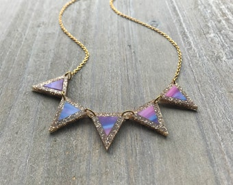 Sparkle Sunset Bunting Necklace