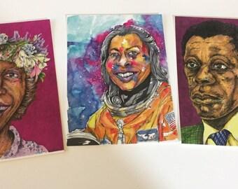 Black History Icons Postcard Set of 3 VARIETY  Pack Postcard SALE