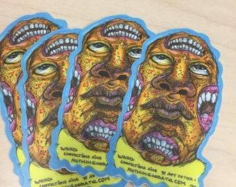 Monster Sticker Pack of 3 ORANGE