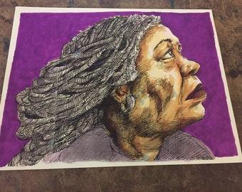 ART PRINT Toni Morrison Mixed Media Art Print