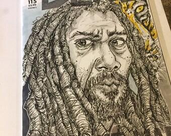 Comics Variant Sketch Cover King Ezekiel